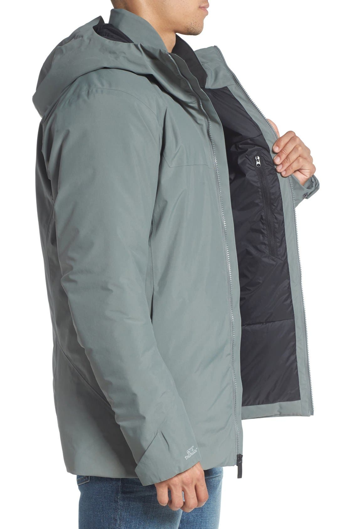 'Koda' Hooded Waterproof Shell Jacket,                             Alternate thumbnail 3, color,                             Autobahn