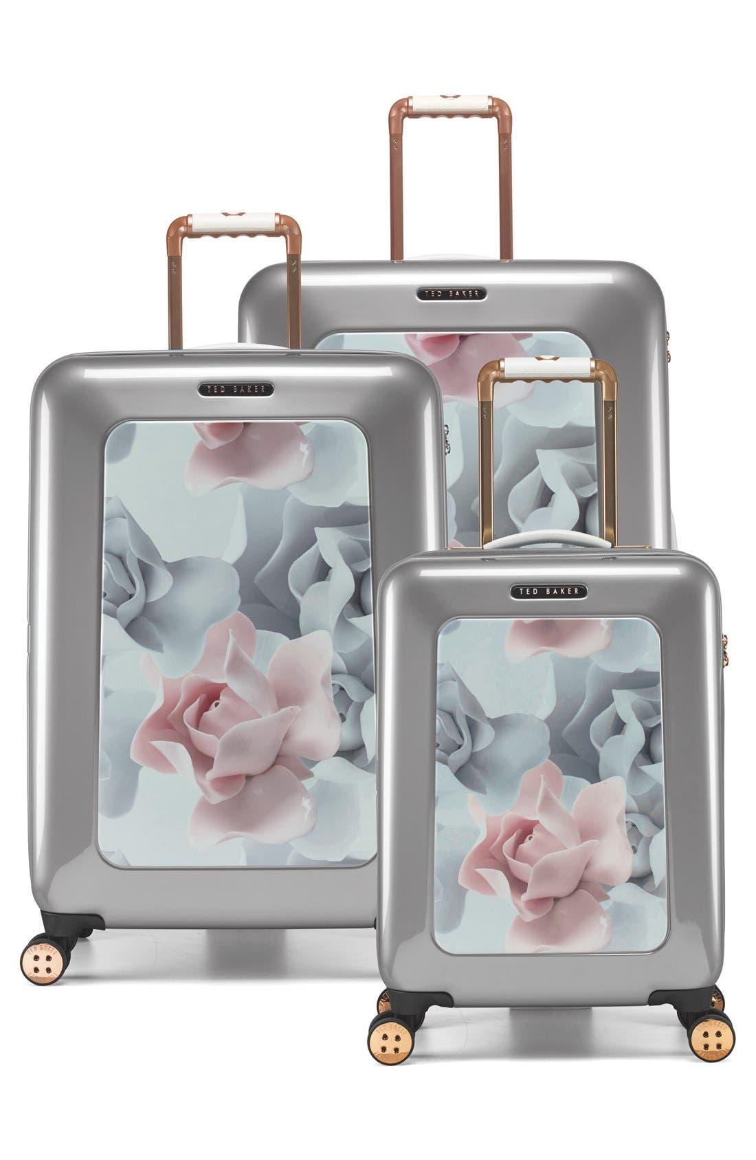 Alternate Image 6  - Ted Baker London 'Large Porcelain Rose' Four Wheel Suitcase (31 Inch)
