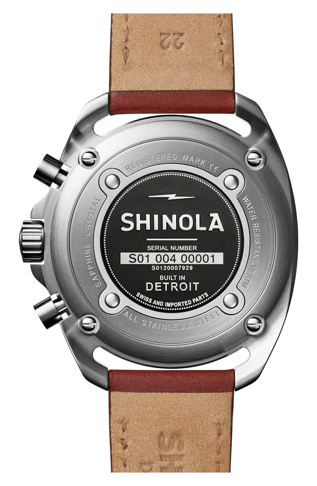 Alternate Image 2  - Shinola 'The Rambler' Chronograph Leather Strap Watch, 44mm