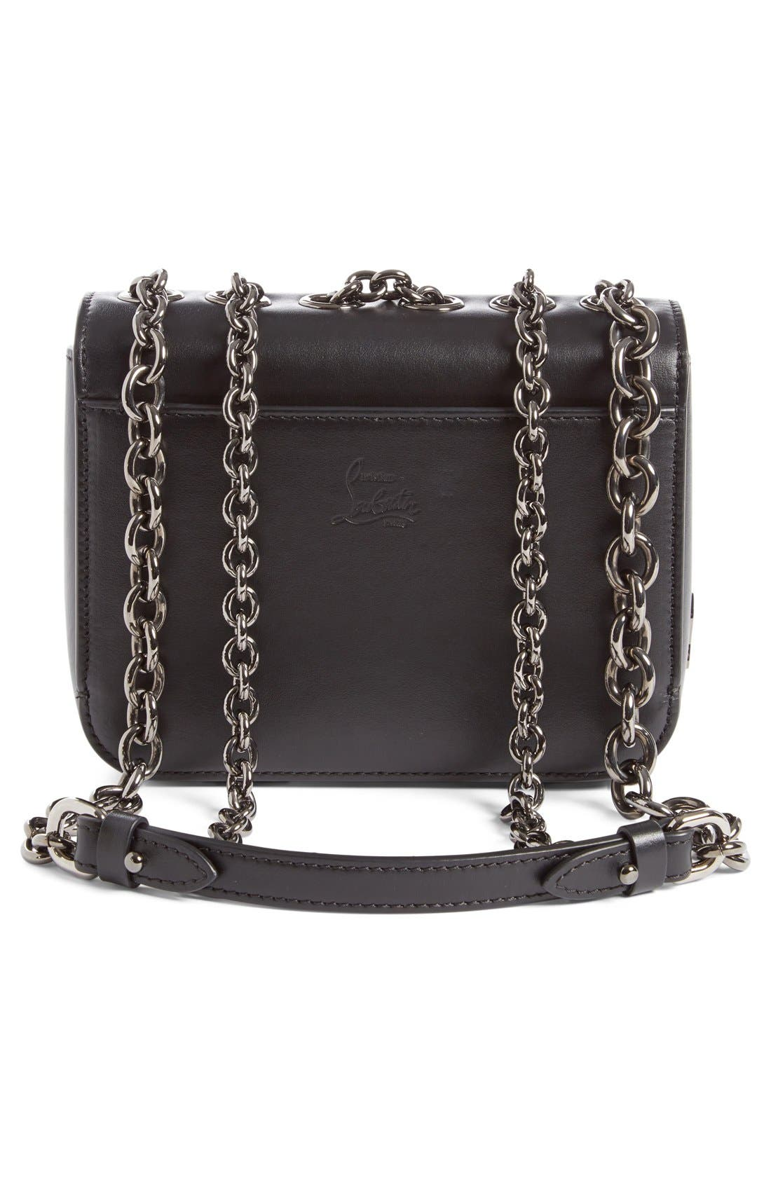 Alternate Image 3  - Christian Louboutin 'Mini Sweet Charity' Spiked Calfskin Shoulder/Crossbody Bag