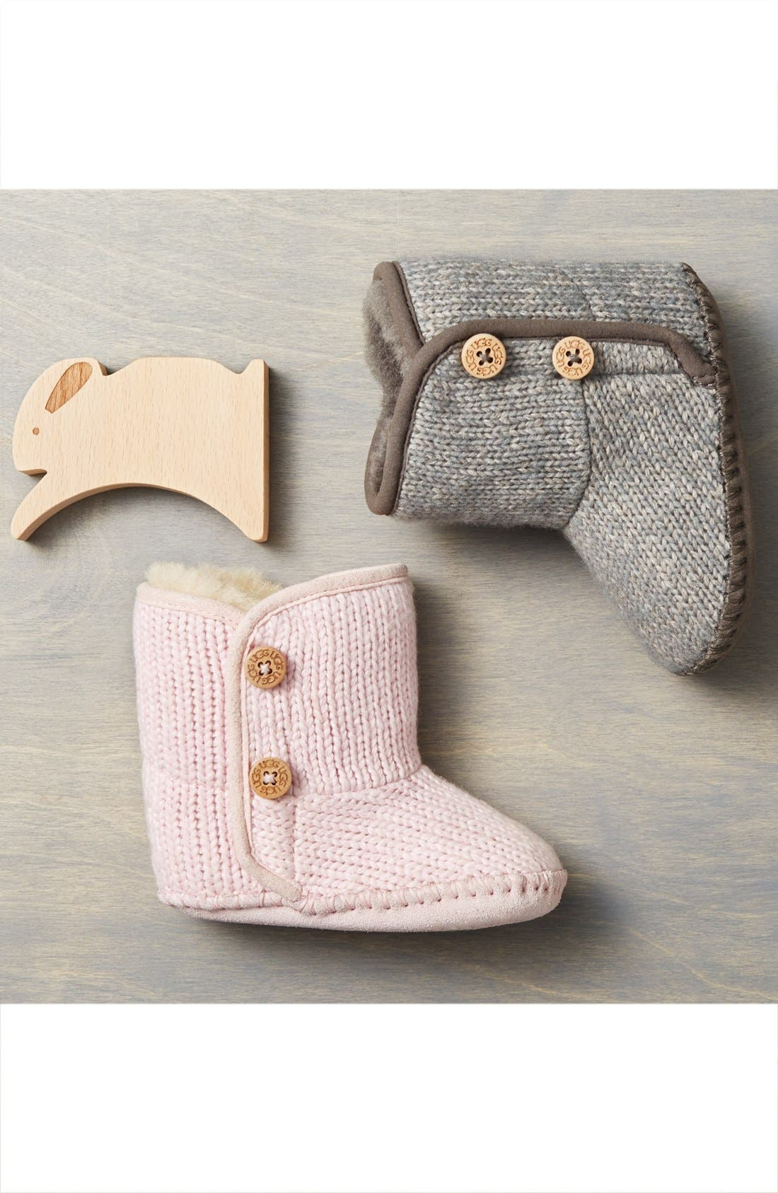 Alternate Image 6  - UGG® Purl Knit Bootie (Baby & Walker)