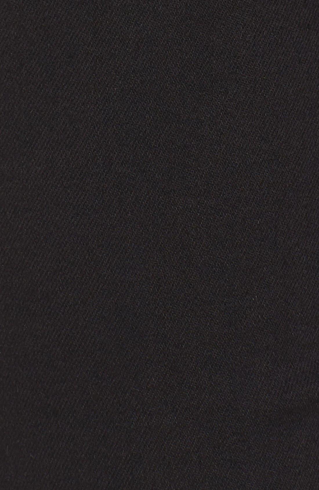 Stretch Slim Straight Leg Jeans,                             Alternate thumbnail 5, color,                             Riche Touch Black Noir