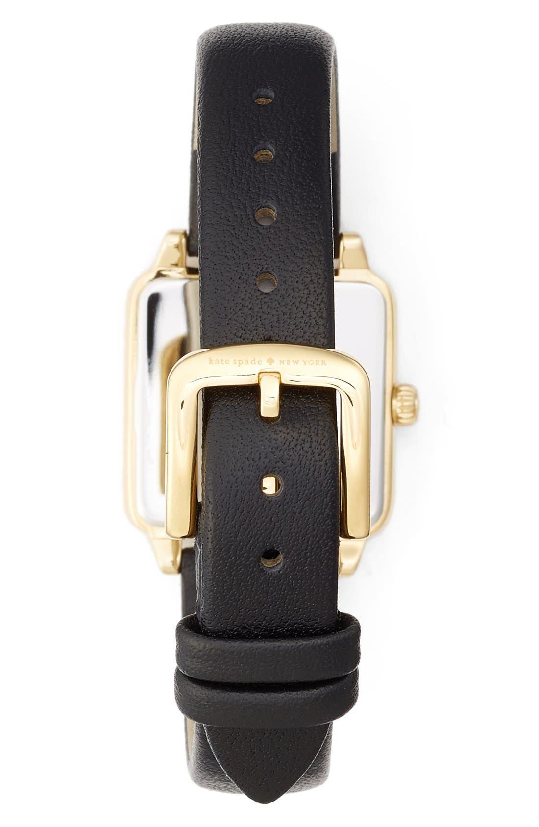 Alternate Image 2  - kate spade new york 'washington' square leather strap watch, 25mm