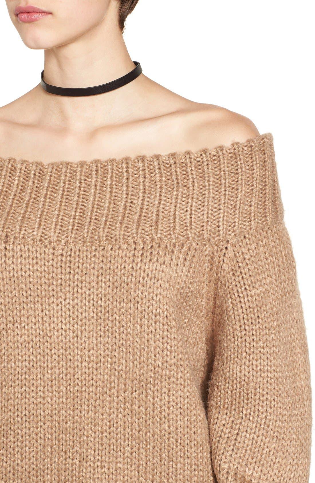 Alternate Image 5  - Cotton Emporium Off the Shoulder Knit Pullover