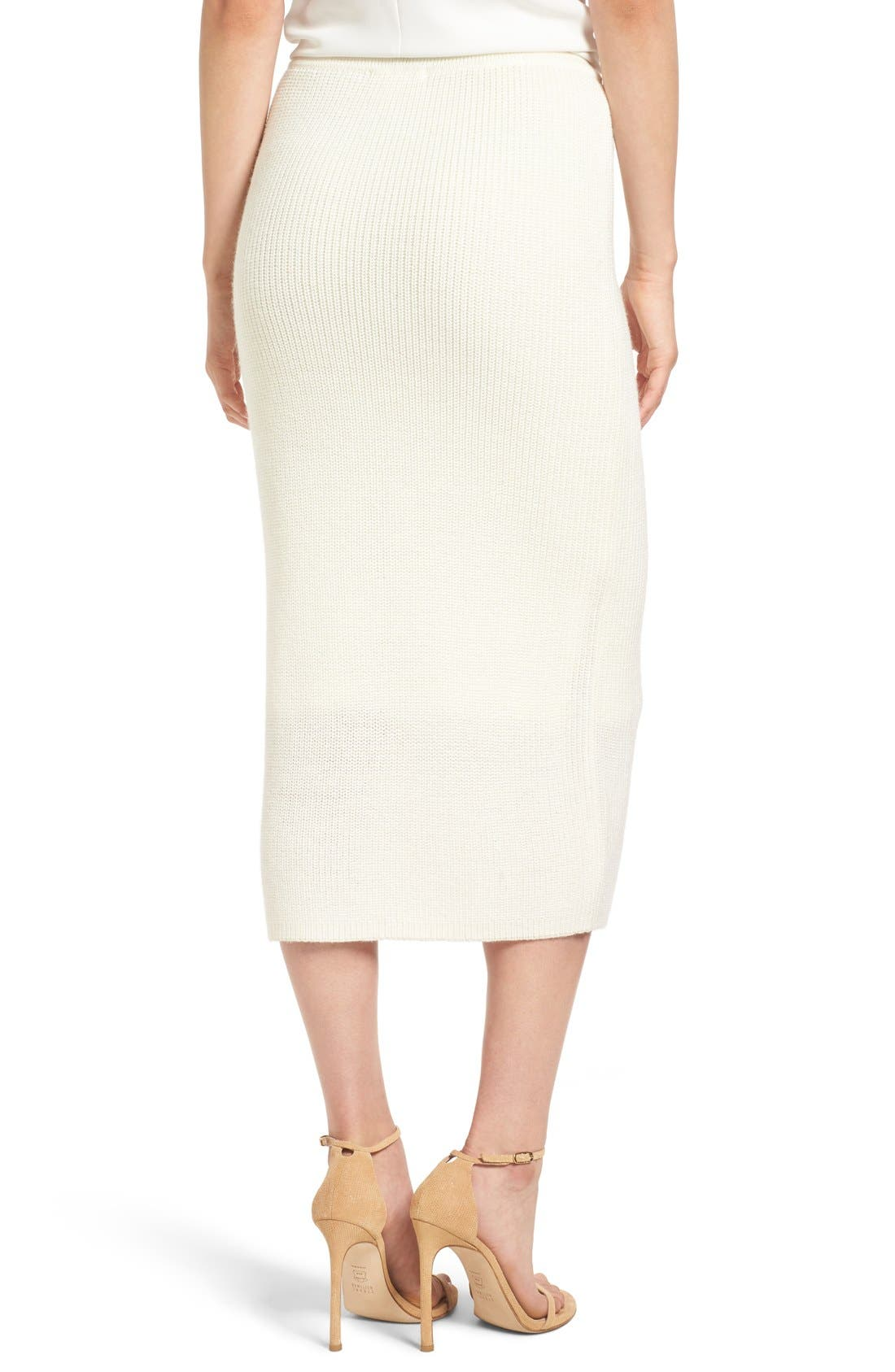 Alternate Image 2  - Paper Crown by Lauren Conrad 'Copenhagen' Knit Tube Skirt