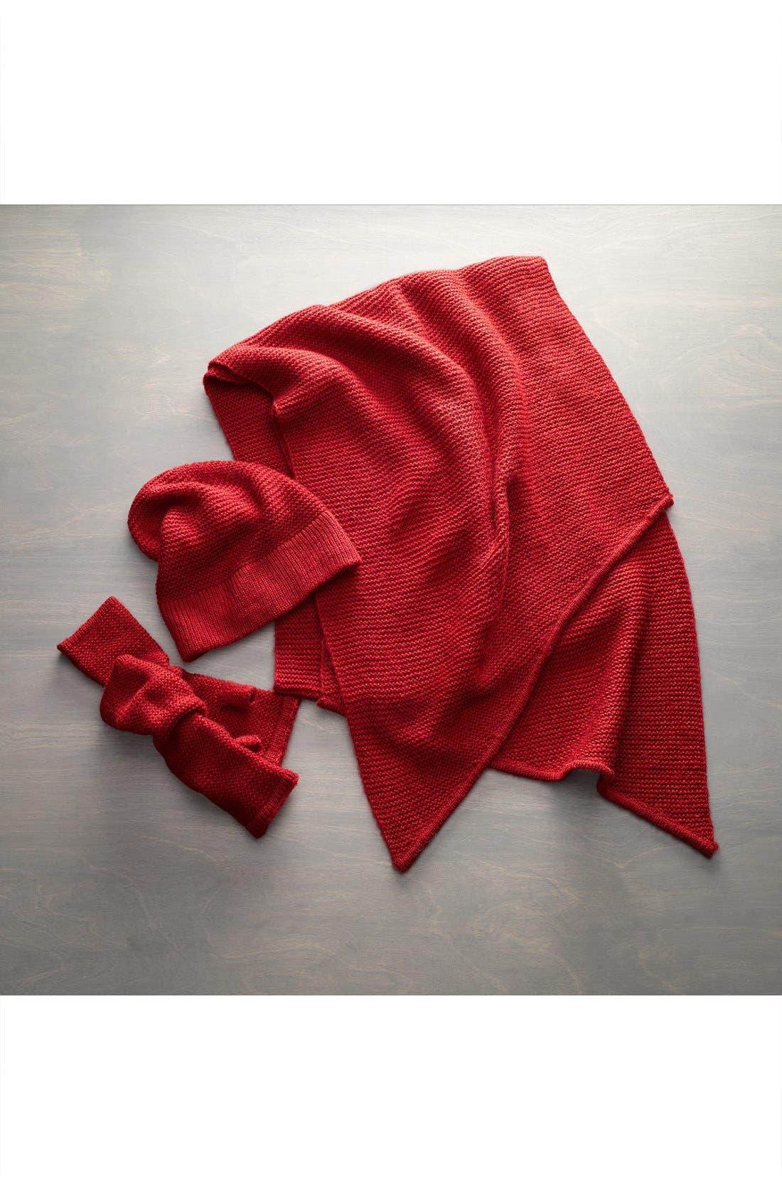 Garter Stitch Fingerless Gloves,                             Alternate thumbnail 3, color,