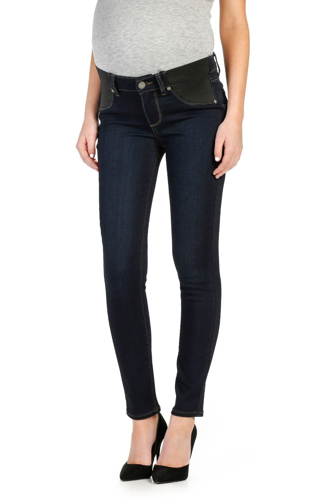 Alternate Image 1 Selected - PAIGE Transcend - Verdugo Ankle Skinny Maternity Jeans (Mona)