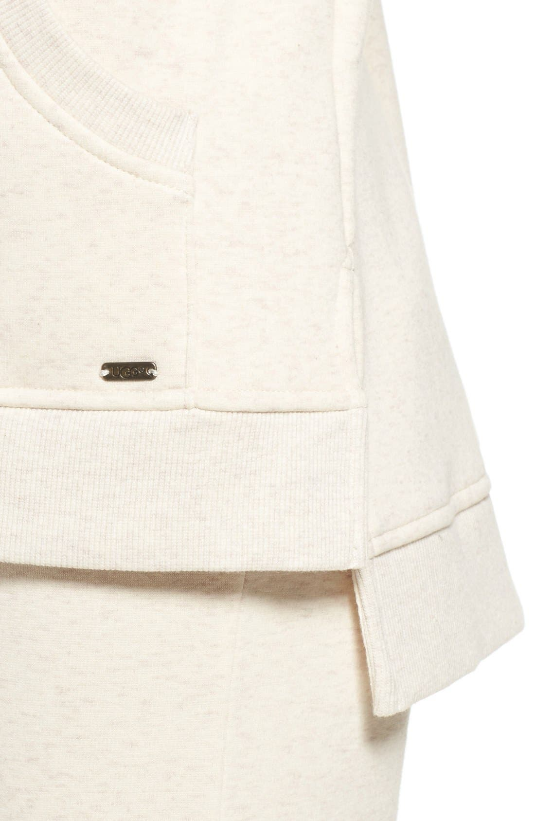 Alternate Image 4  - UGG® 'Mavis' Stretch Cotton Zip-Up Hoodie