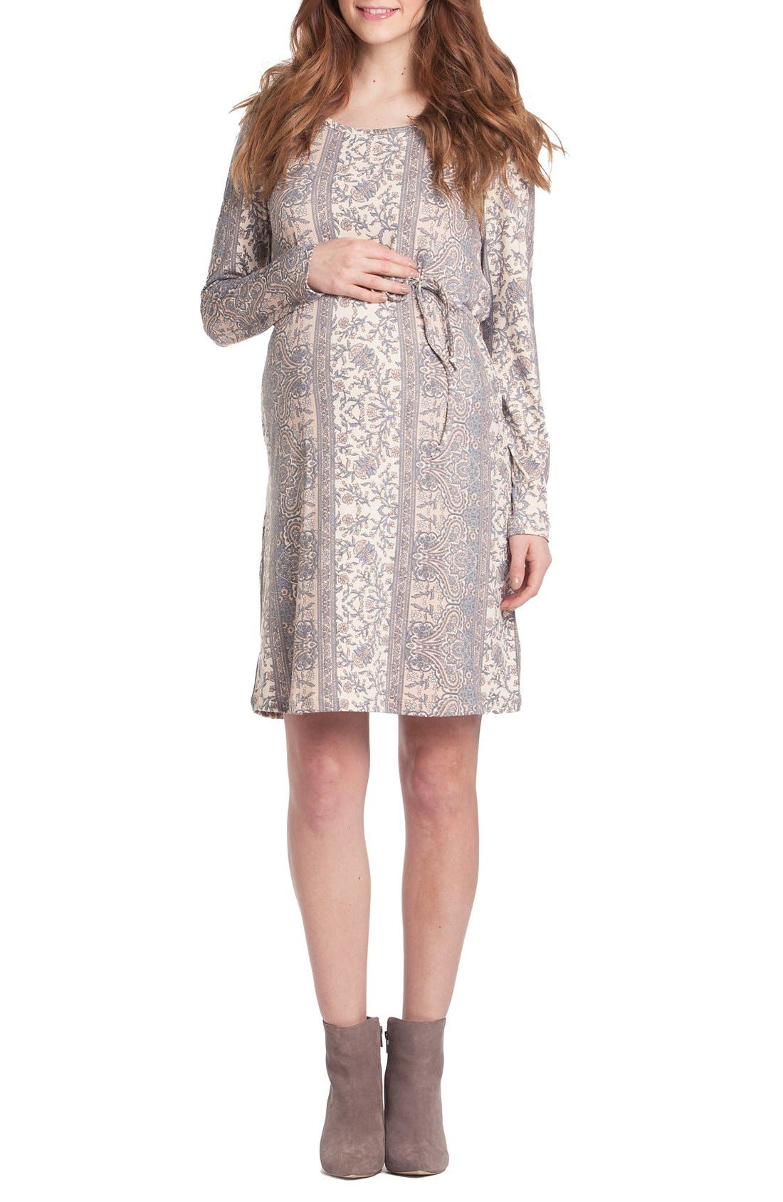 Main Image - Lilac Clothing Print Maternity Shift Dress