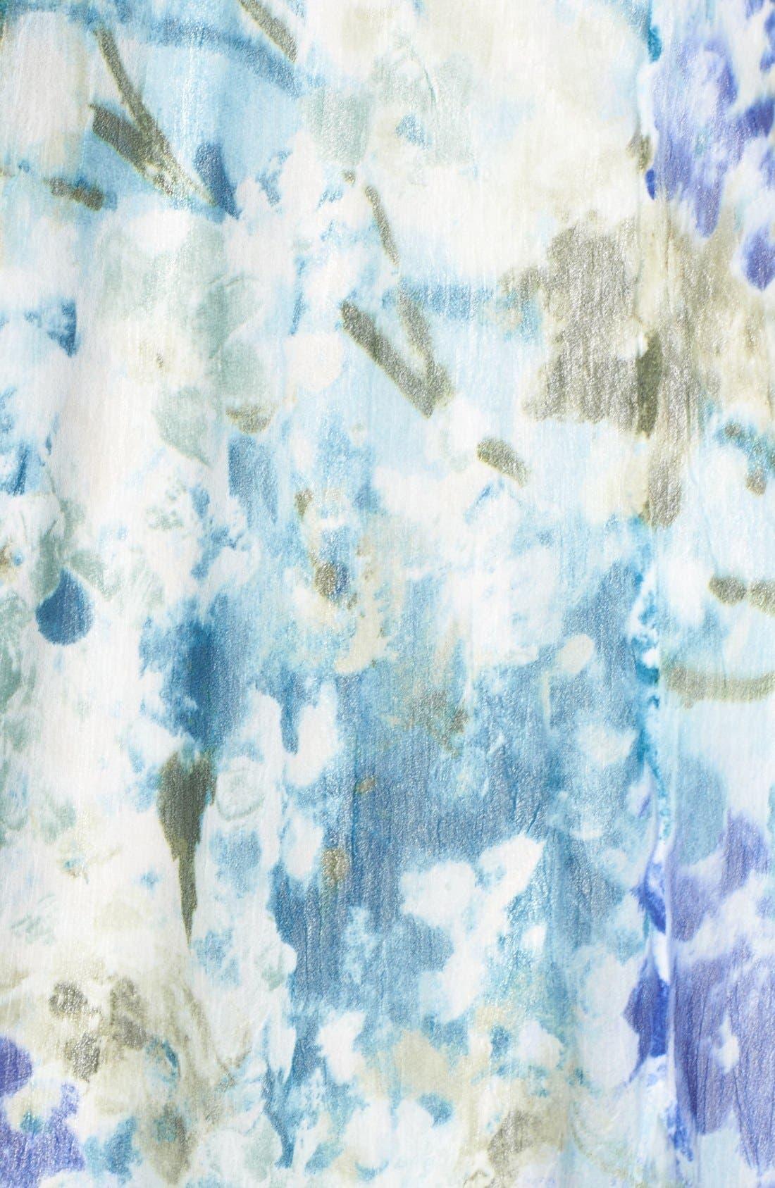 Chiffon A-Line Dress,                             Alternate thumbnail 6, color,                             Monet Dream