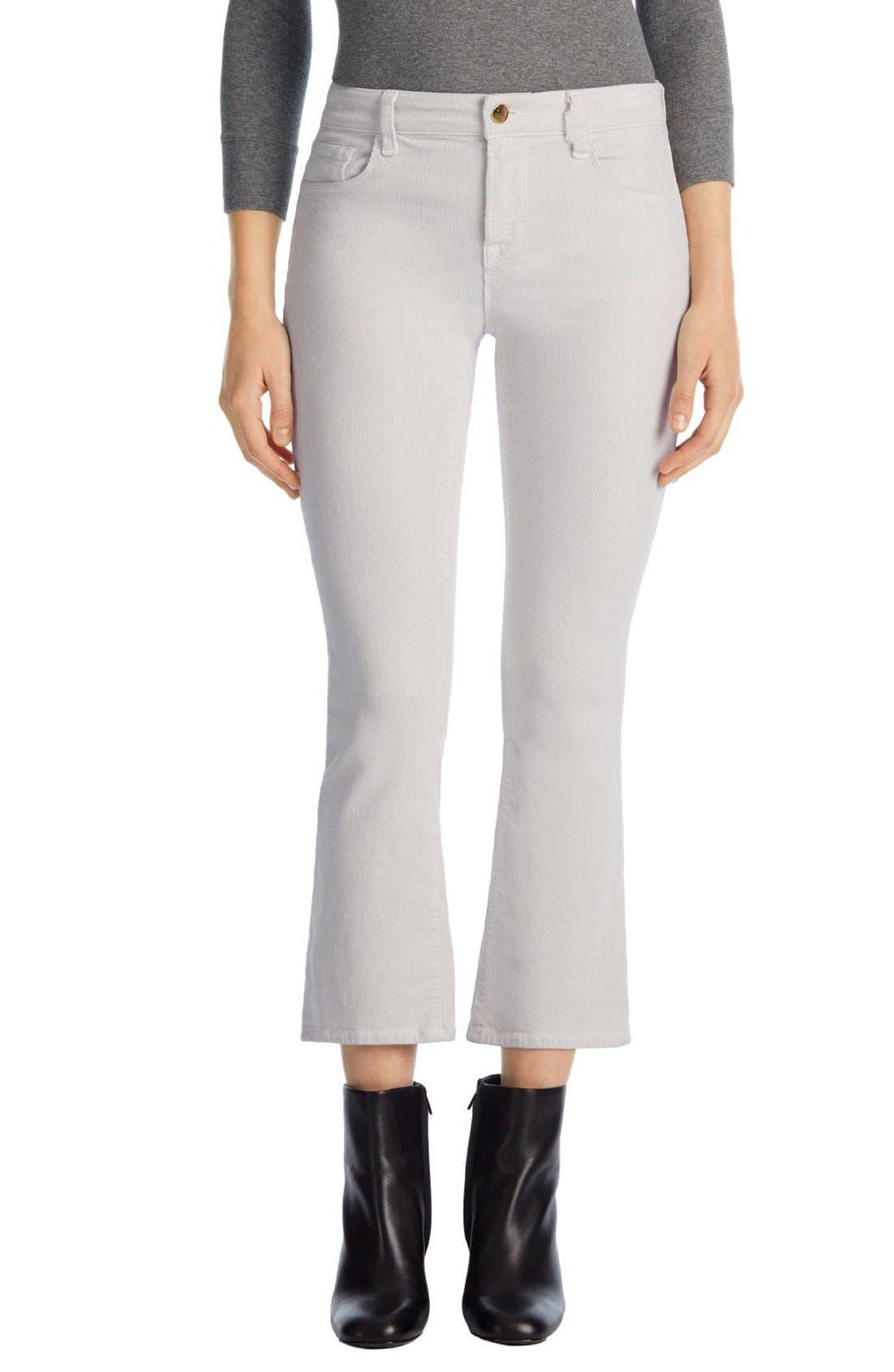 Main Image - J Brand 'Selena' Crop Bootcut Corduroy Pants