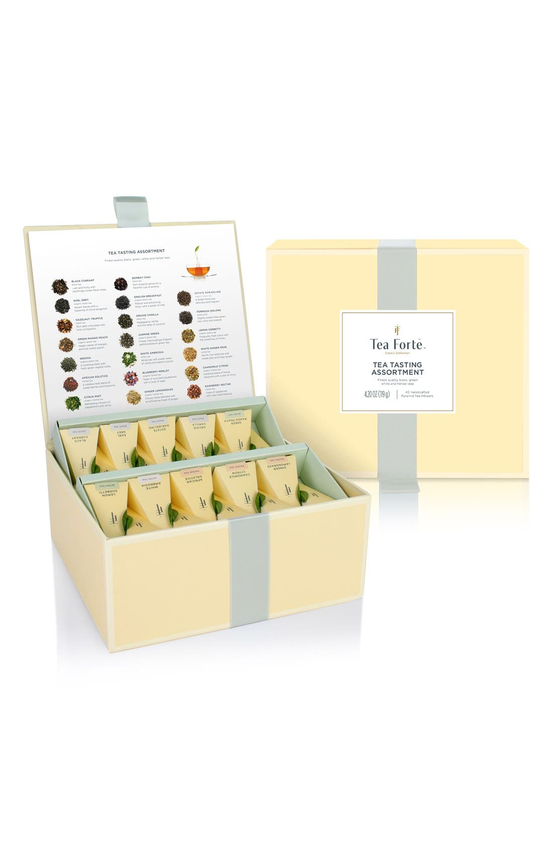 'Classic Collection - Tea Tasting' Assorted Tea Infuser Chest,                         Main,                         color, Yellow