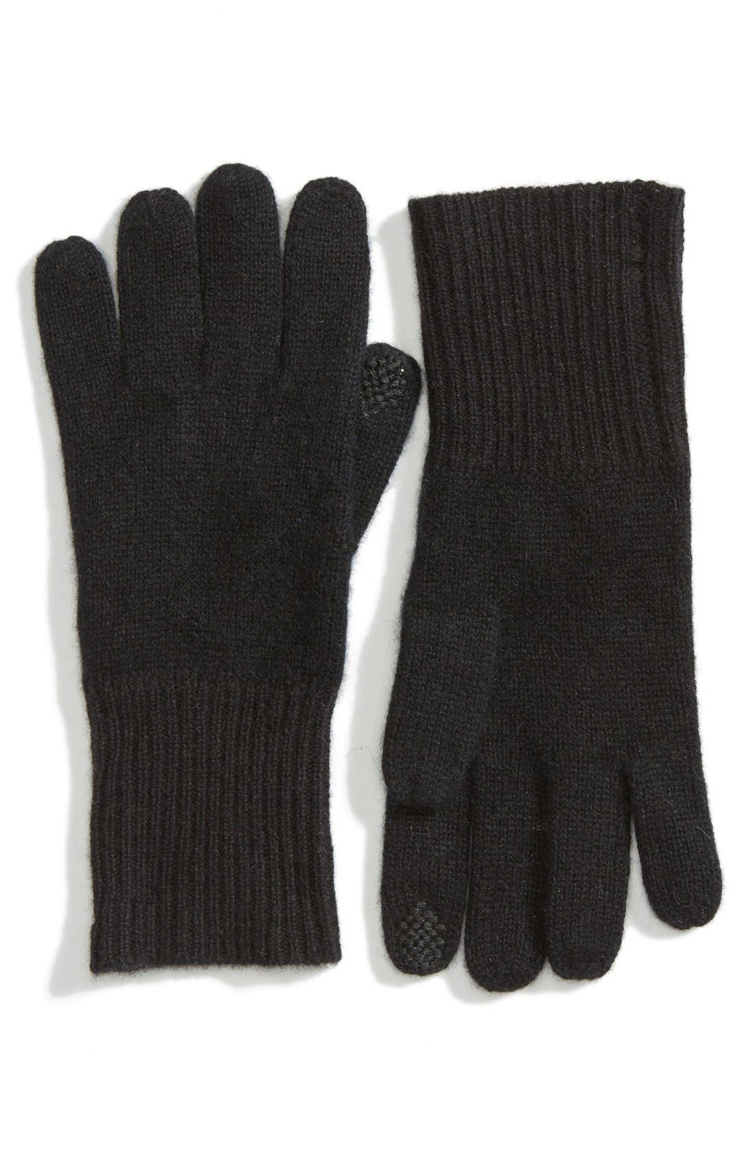 Alternate Image 1 Selected - Halogen® Rib Knit Cashmere Gloves