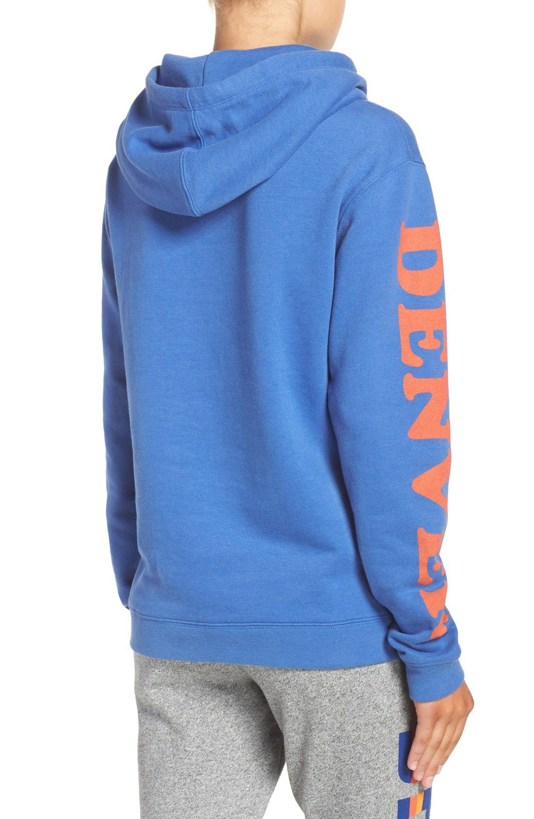 Alternate Image 2  - Junk Food 'Denver Broncos' Hooded Sweatshirt