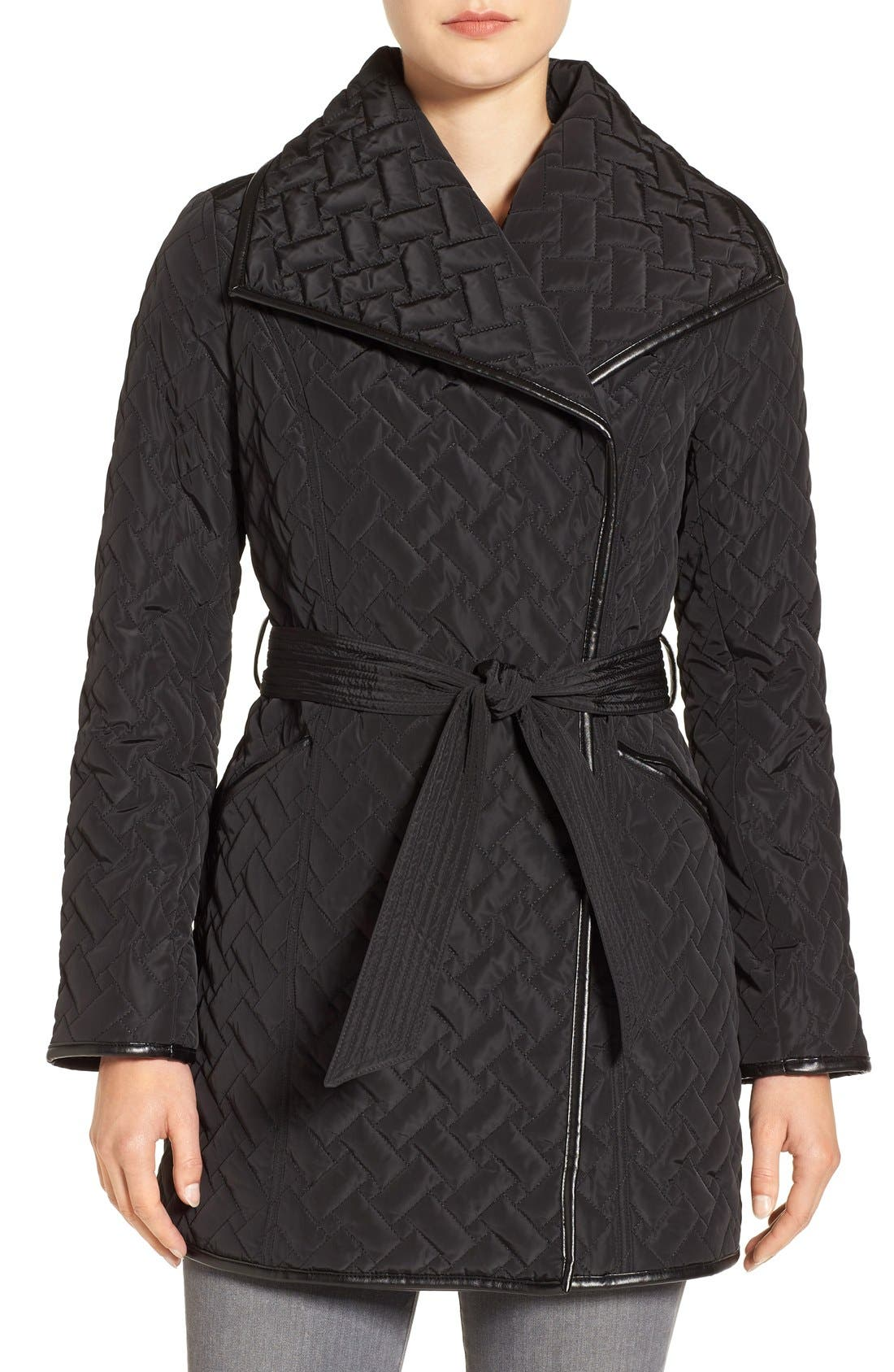 Alternate Image 4  - Cole Haan Signature Water Resistant Quilted Wrap Coat