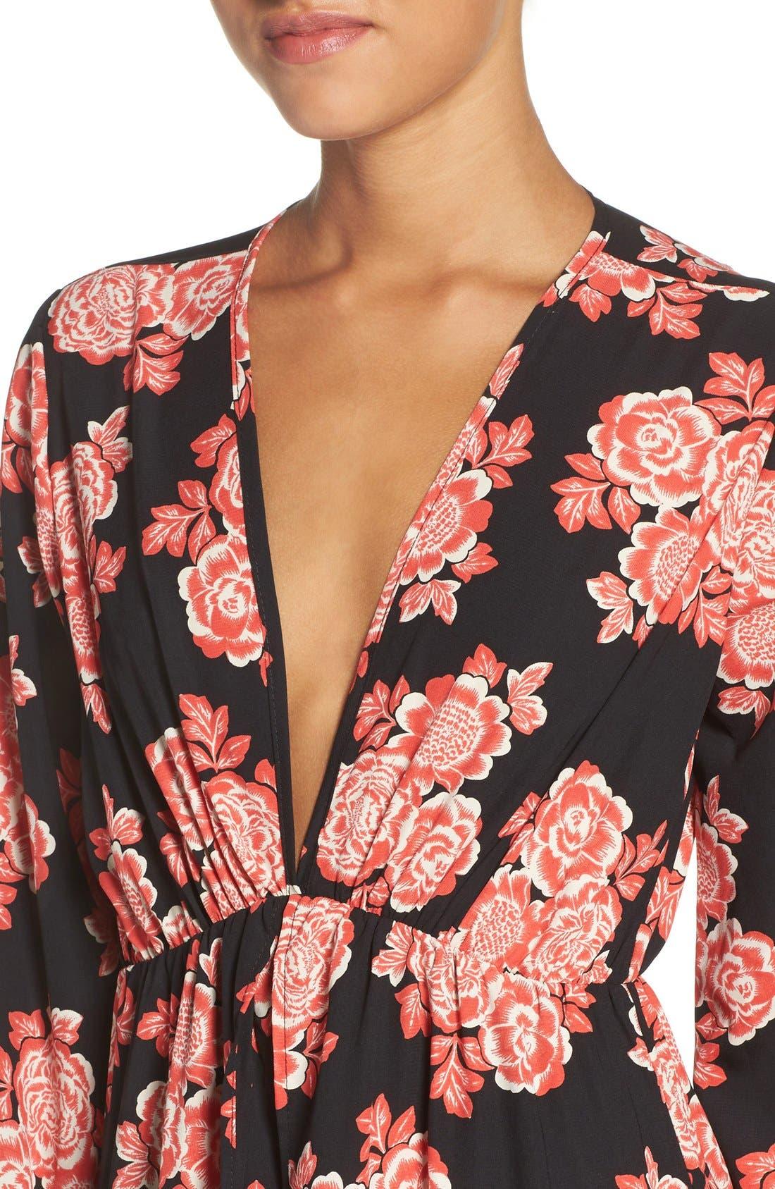 Alternate Image 4  - Fraiche by J Floral Maxi Dress