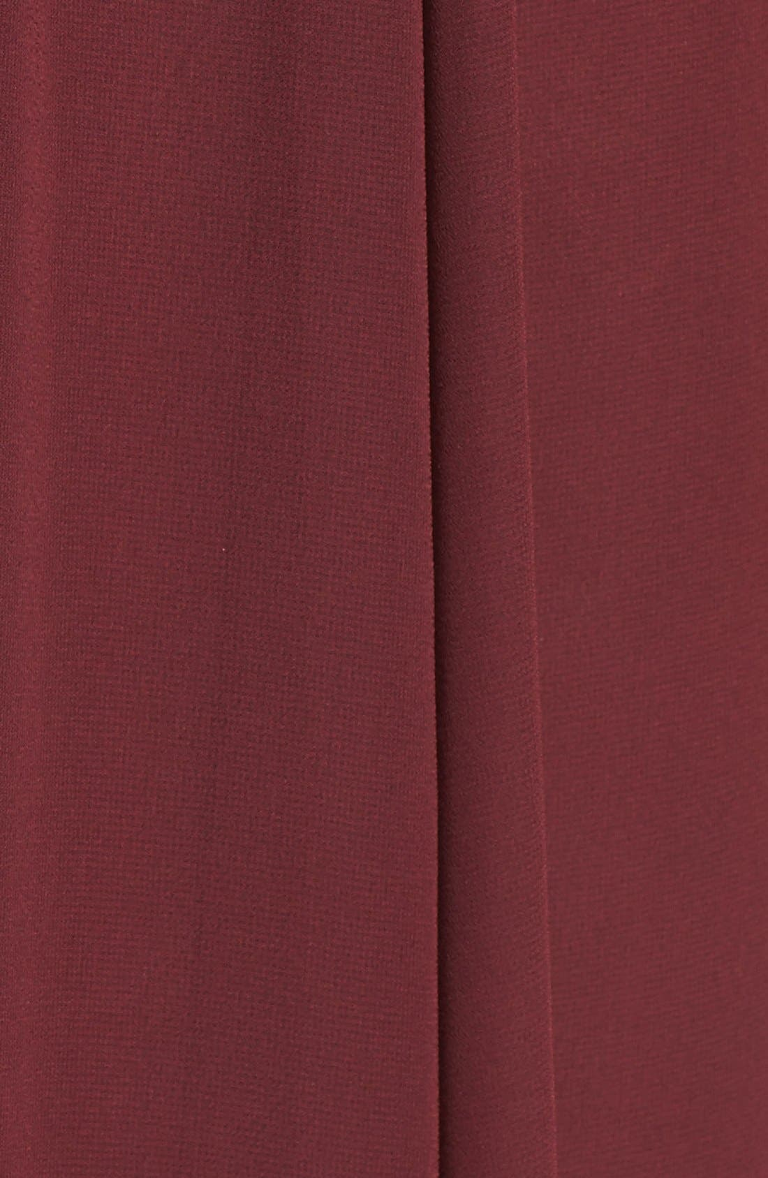 'Justine' Double V-Neck Chiffon Gown,                             Alternate thumbnail 5, color,                             Ruby