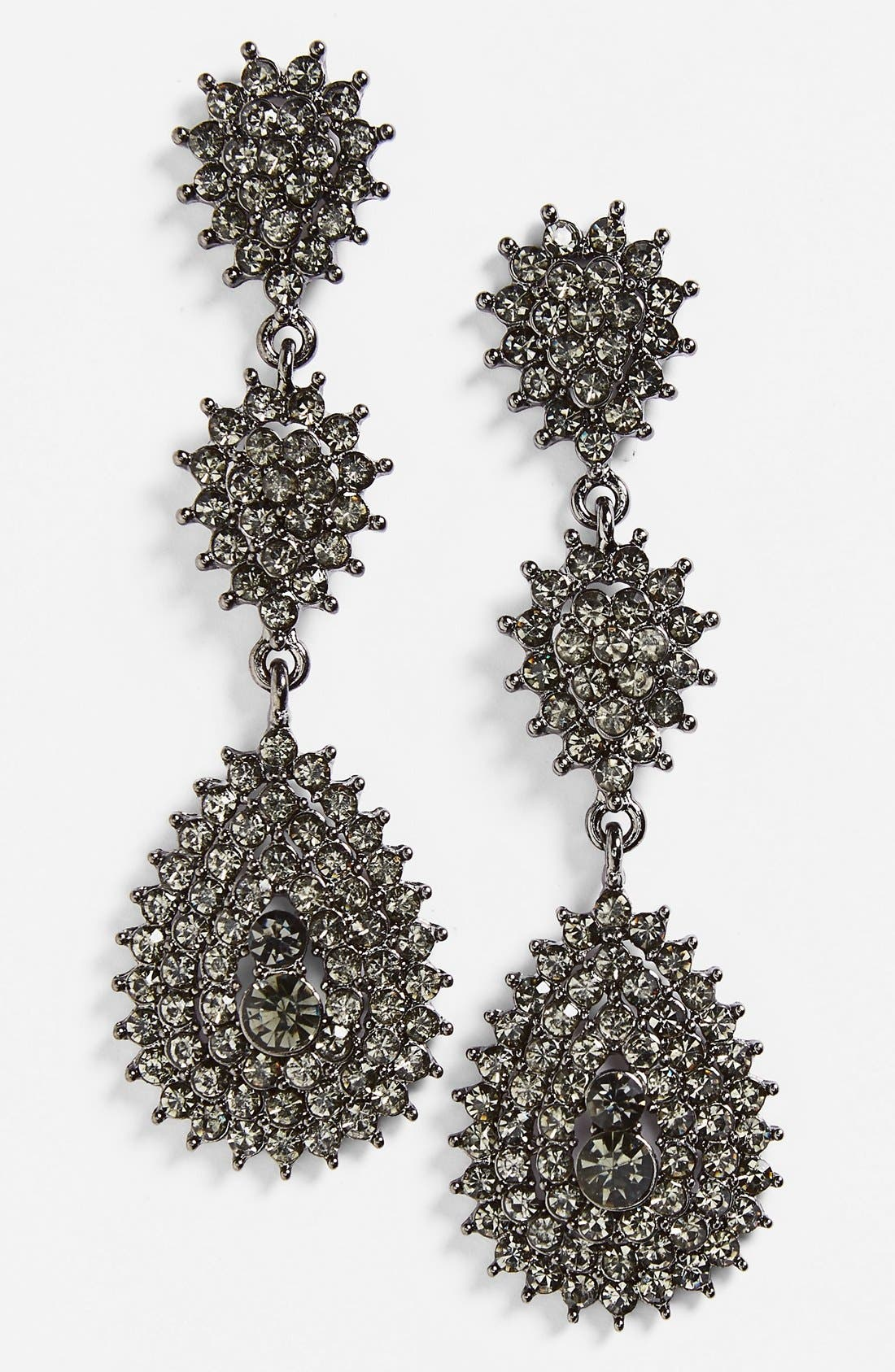 Alternate Image 1 Selected - Tasha Crystal Teardrop Earrings
