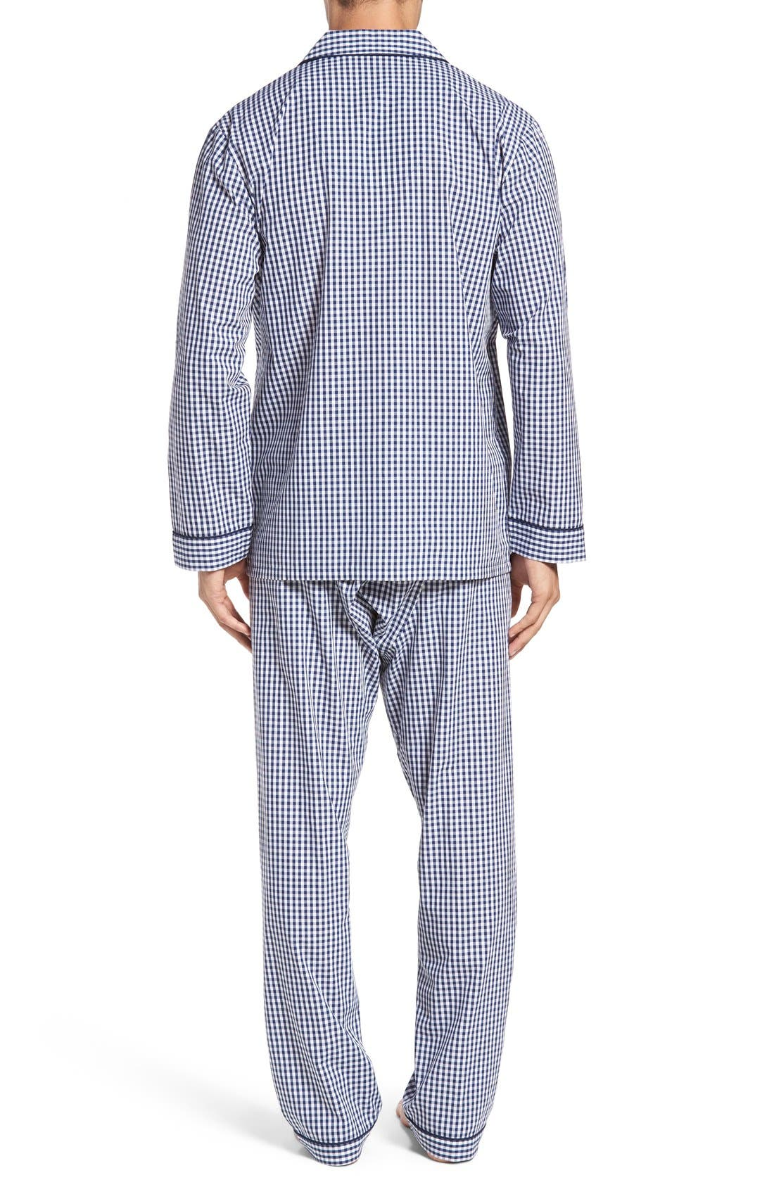 'Hot & Cold' Pajamas,                             Alternate thumbnail 2, color,                             Blue Gingham