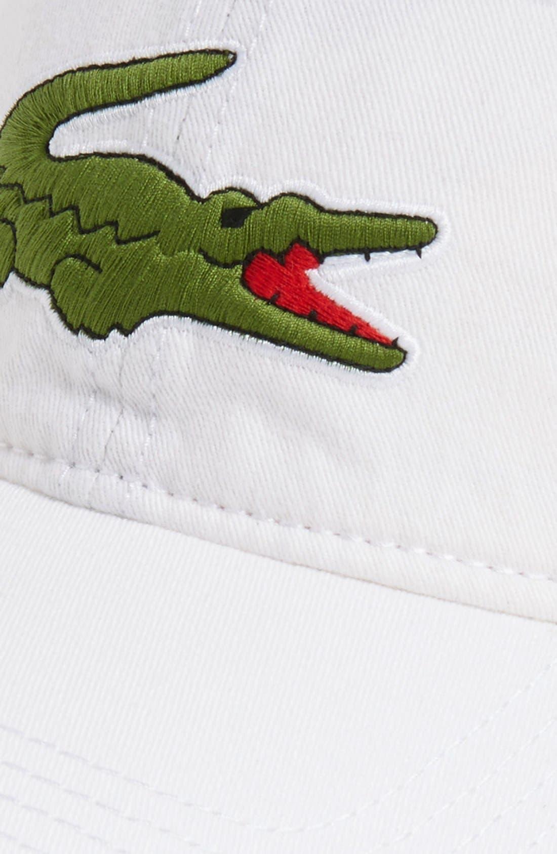 Alternate Image 2  - Lacoste 'Big Croc' Logo Embroidered Cap