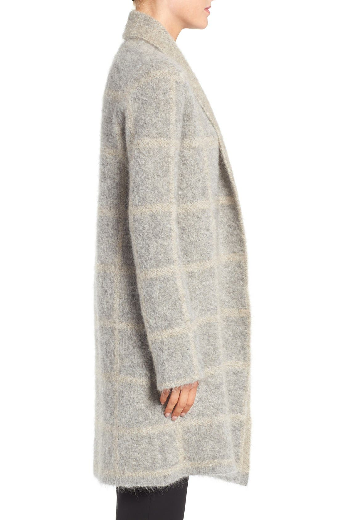 Alternate Image 3  - Eileen Fisher Plush Open Front Long Cardigan