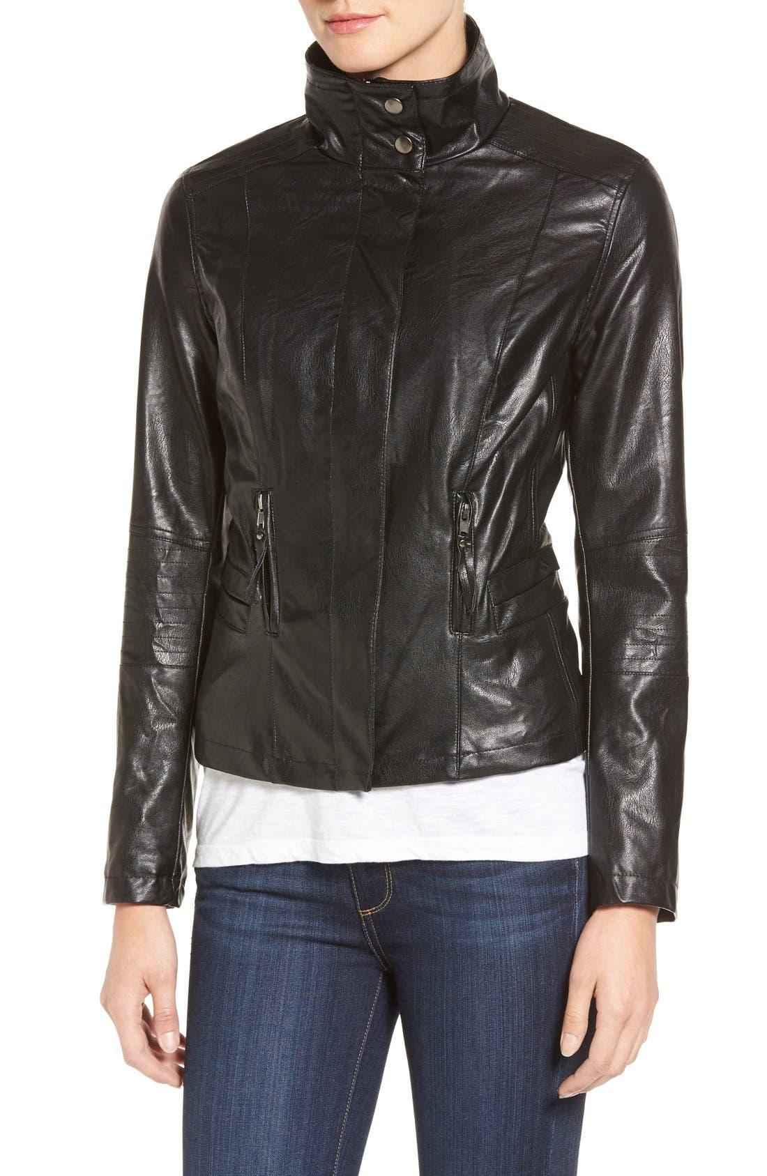 Alternate Image 5  - KUT from the Kloth 'Elena' Faux Leather Motocross Jacket