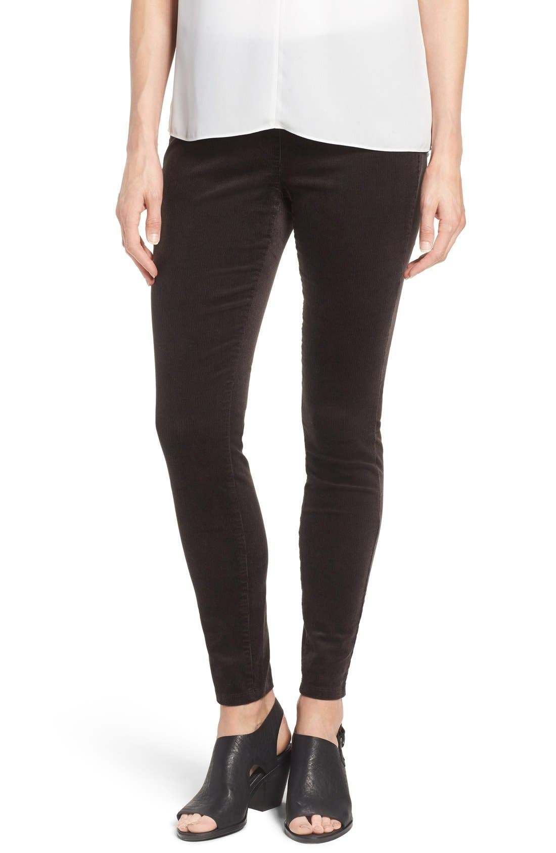 Main Image - Eileen Fisher Stretch Corduroy Leggings