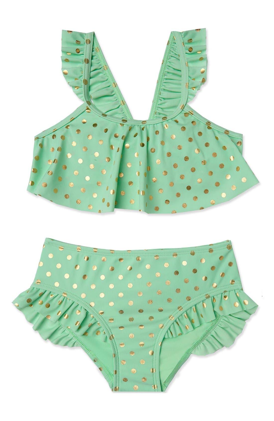Alternate Image 1 Selected - Hula Star 'Milkshake' Two-Piece Swimsuit (Toddler Girls & Little Girls)