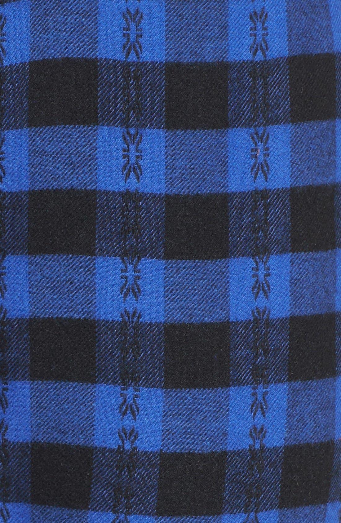 Alternate Image 5  - Make + Model Plaid Flannel Lounge Pants