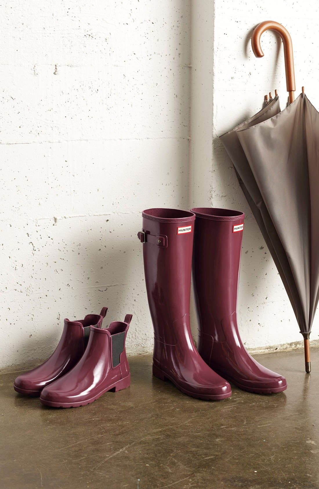 'Original Refined' High Gloss Rain Boot,                             Alternate thumbnail 2, color,