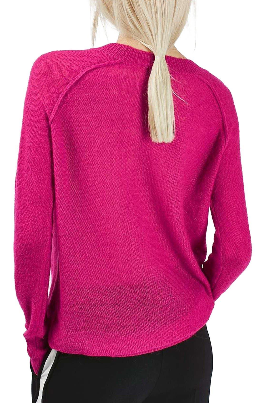 Alternate Image 3  - Topshop Fine Knit Raglan Sweater