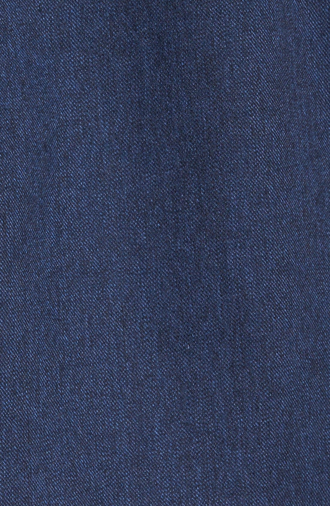 'Sinclair' Trim Fit Brushed Twill Sport Shirt,                             Alternate thumbnail 5, color,                             Indigo