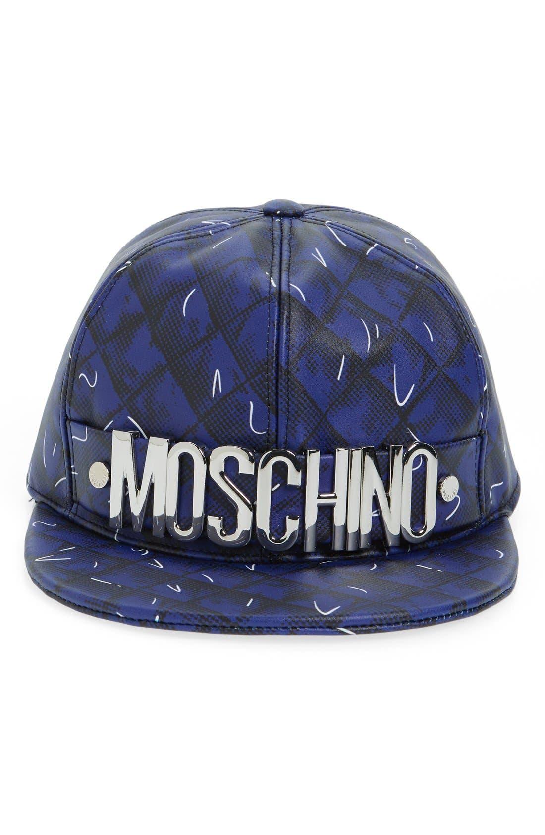 Alternate Image 2  - Moschino 'Shadow' Leather Baseball Cap