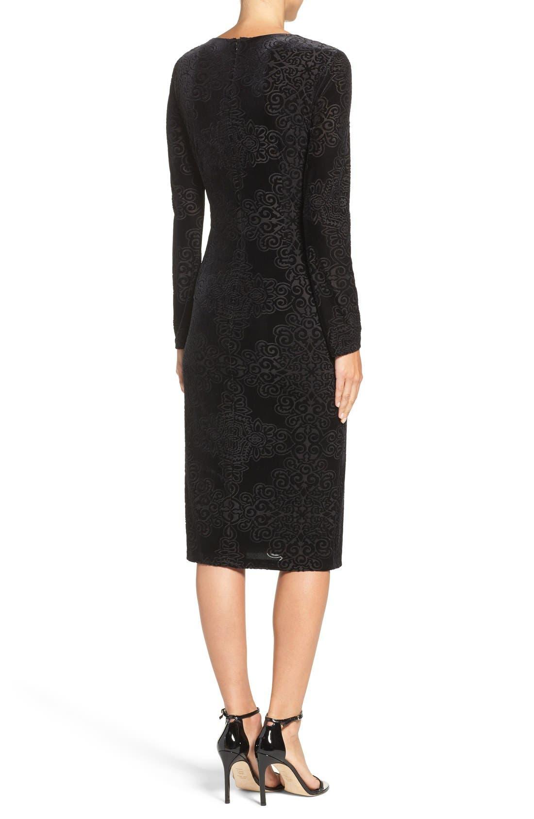 Alternate Image 2  - Maggy London Burnout Velvet Sheath Dress (Regular & Petite)