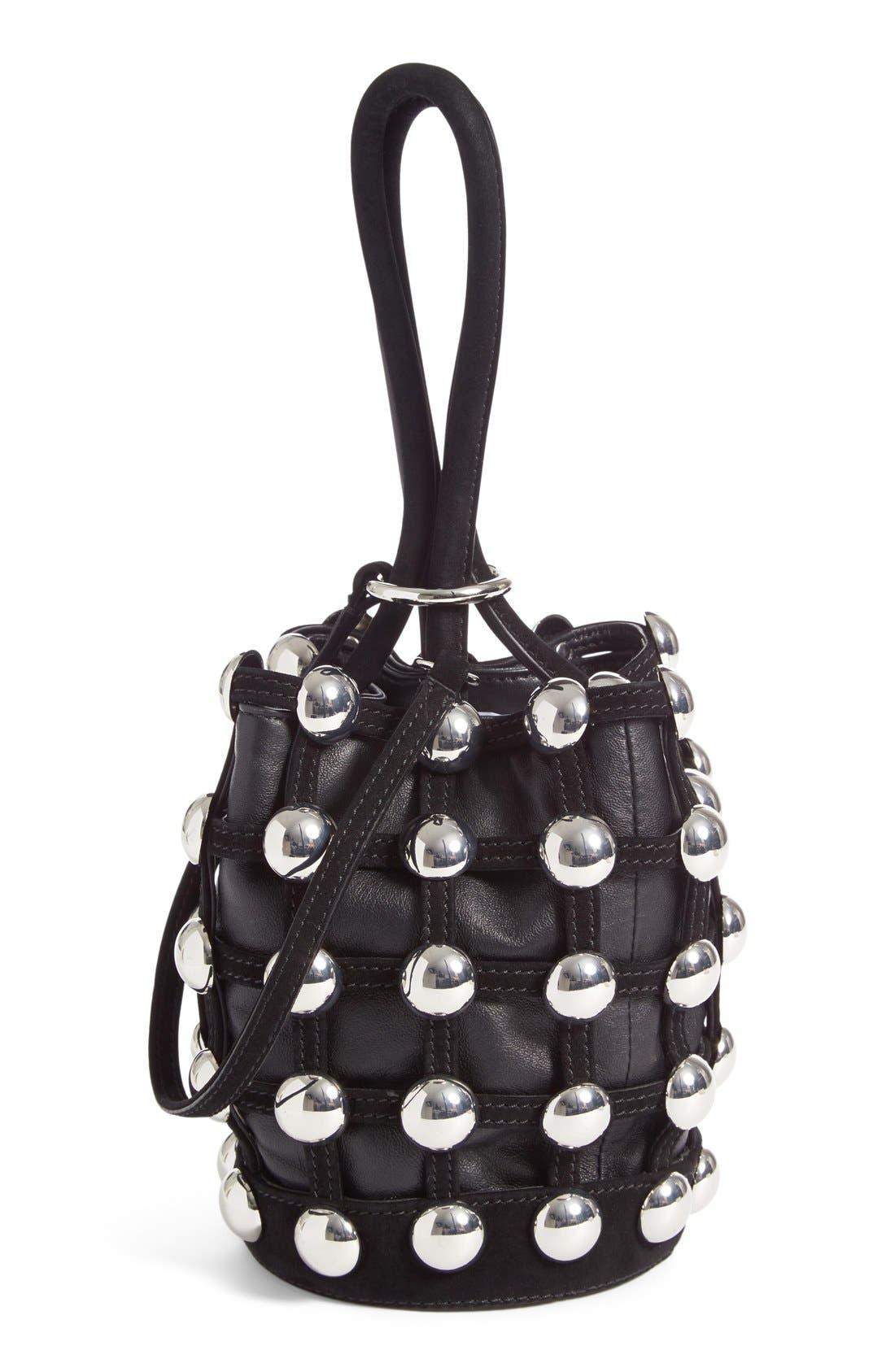 Main Image - Alexander Wang Mini Roxy Studded Suede Bucket Bag