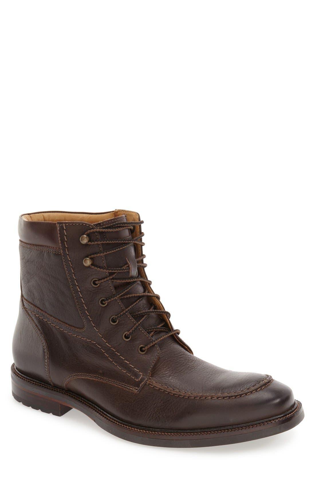 'Baird' Moc Toe Boot,                             Main thumbnail 1, color,                             Brown
