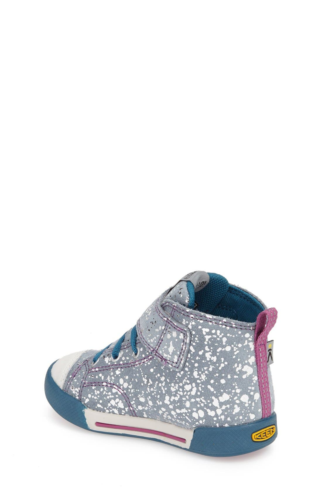 'Encanto Scout' High Top Sneaker,                             Alternate thumbnail 2, color,                             Silver Splatter/ Purple