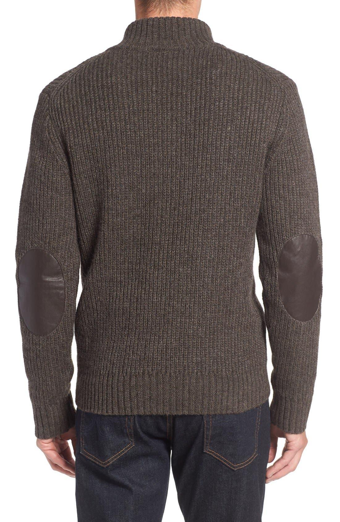 'Huka Lodge' Merino Wool Blend Quarter Zip Sweater,                             Alternate thumbnail 2, color,                             Dirt
