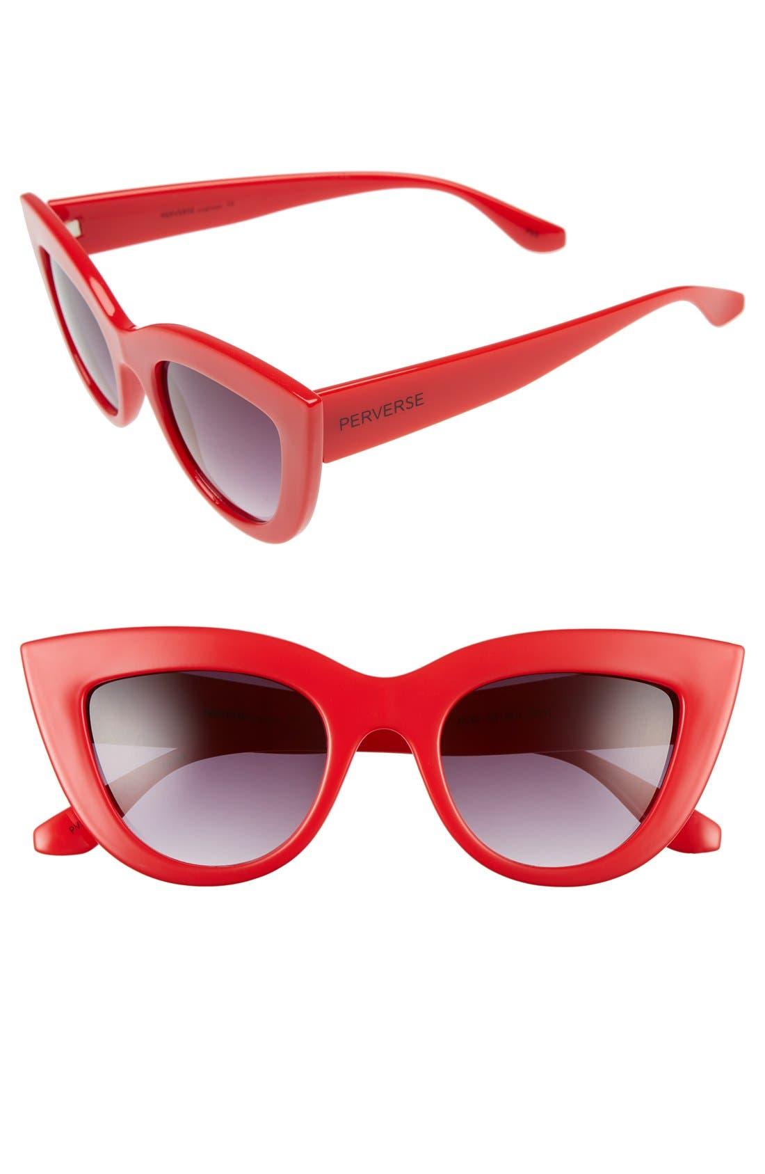 Alternate Image 1 Selected - PERVERSE 'Acid' 50mm Cat Eye Sunglasses
