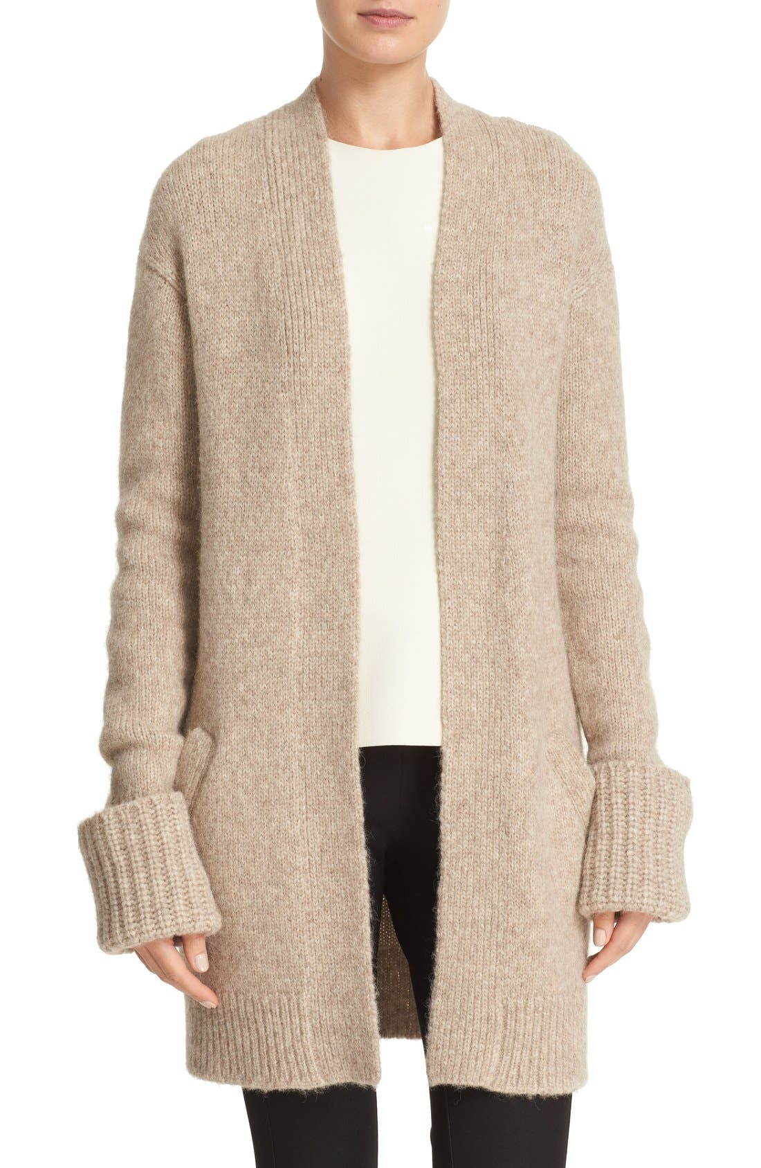 Alternate Image 1 Selected - Theory 'Analiese B Hazy' Alpaca Blend Open Front Cardigan