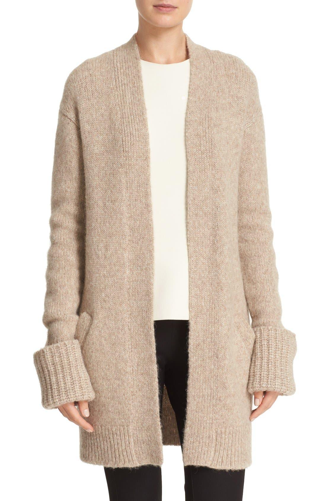 Main Image - Theory 'Analiese B Hazy' Alpaca Blend Open Front Cardigan