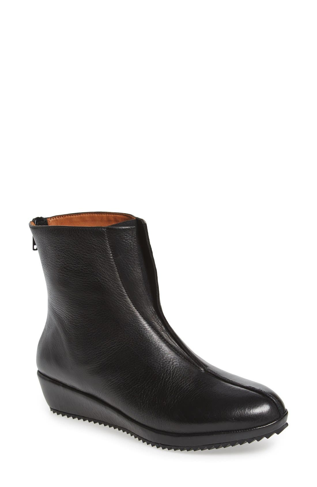 'Berneen' Wedge Bootie,                         Main,                         color, Black Leather