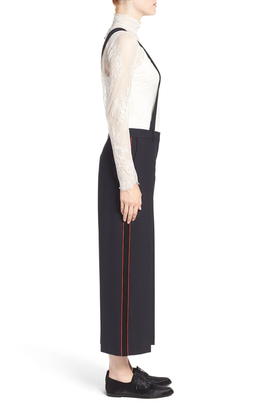 Alternate Image 4  - Olivia Palermo + Chelsea28 High Rise Crop Suspender Pants