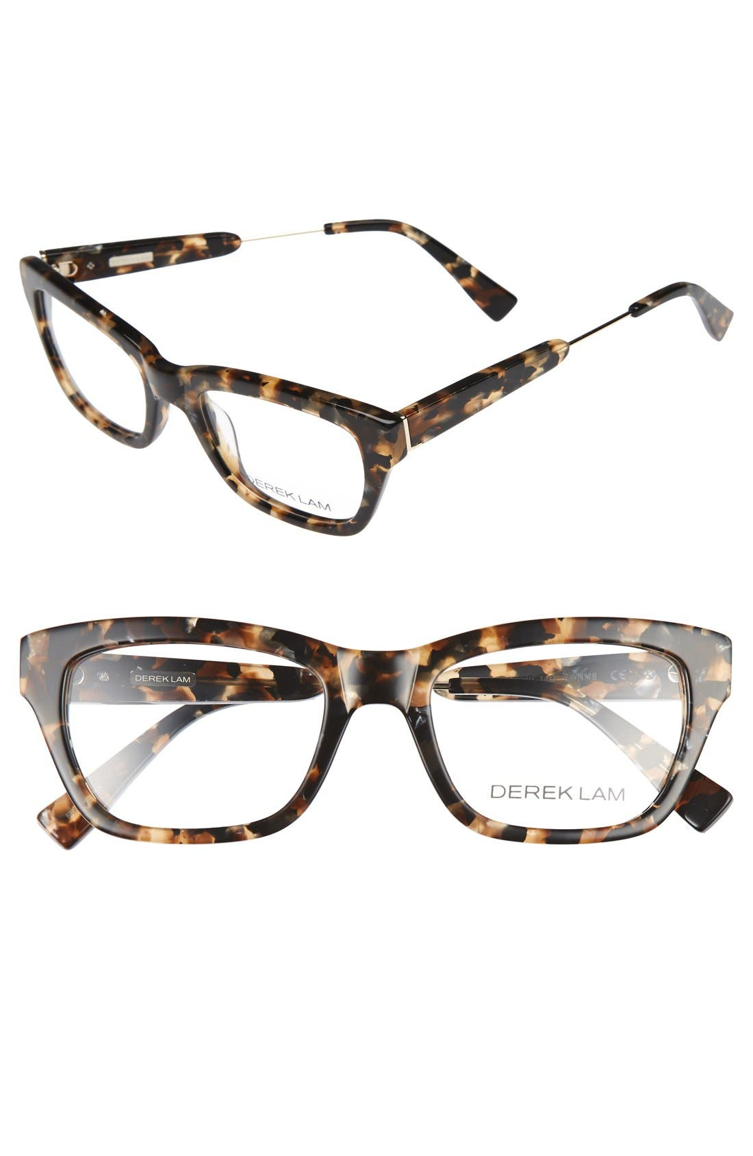 50mm Optical Glasses,                             Main thumbnail 1, color,                             Brown Marble