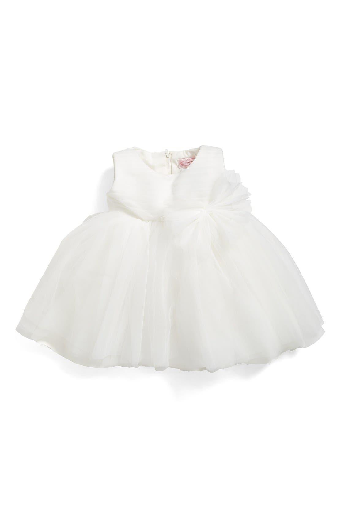 Main Image - Popatu Fit & Flare Tulle Dress (Baby Girls)
