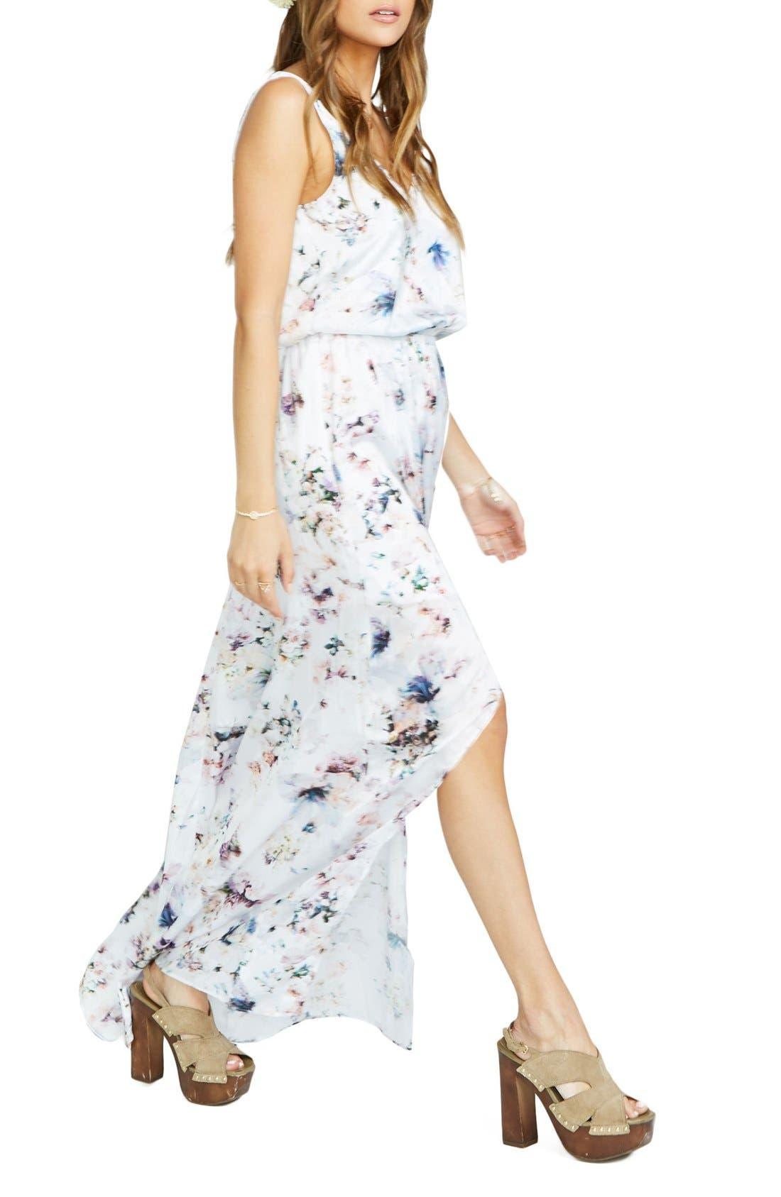 Kendall Soft V-Back A-Line Gown,                         Main,                         color, Bouquet Beauty