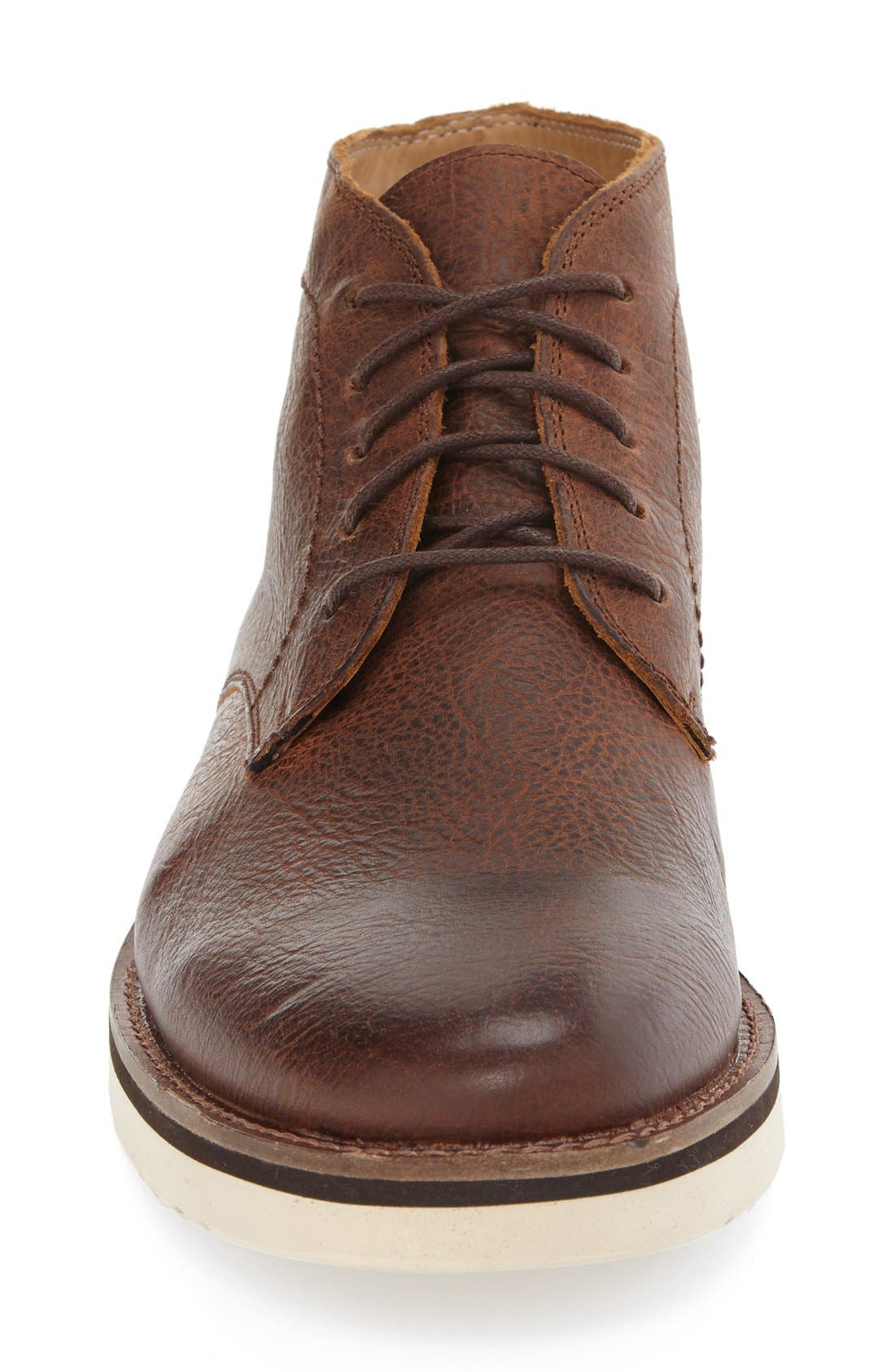'Farley' Chukka Boot,                             Alternate thumbnail 3, color,                             Caramel Leather