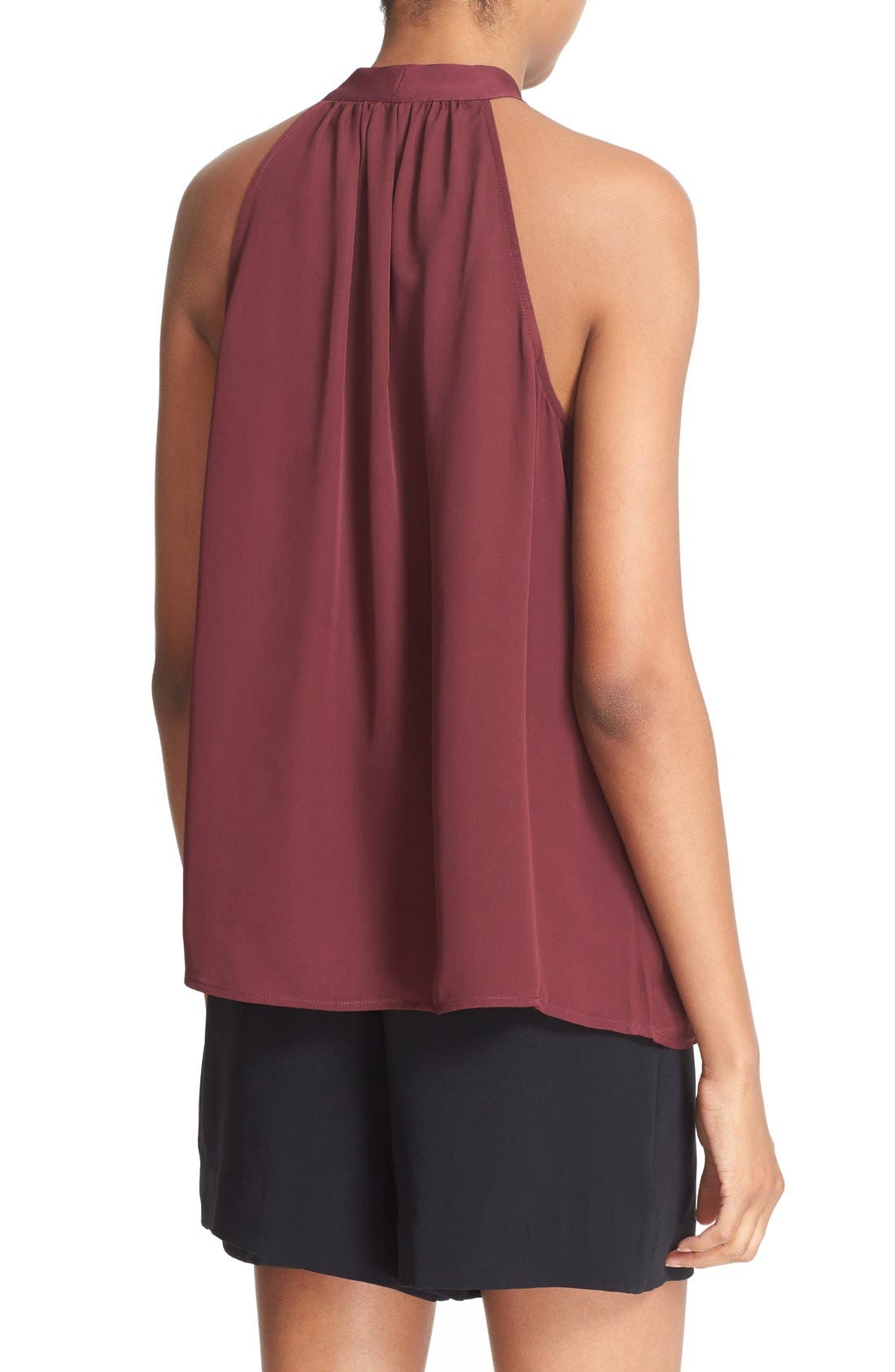 Alternate Image 2  - Joie 'Melisent' Sleeveless Tie Neck Silk Blouse