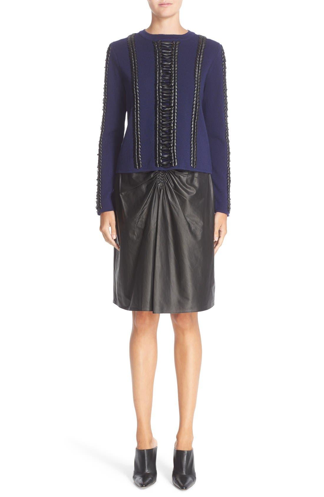 Alternate Image 7  - Altuzarra Deals Lace Detail Wool Sweater