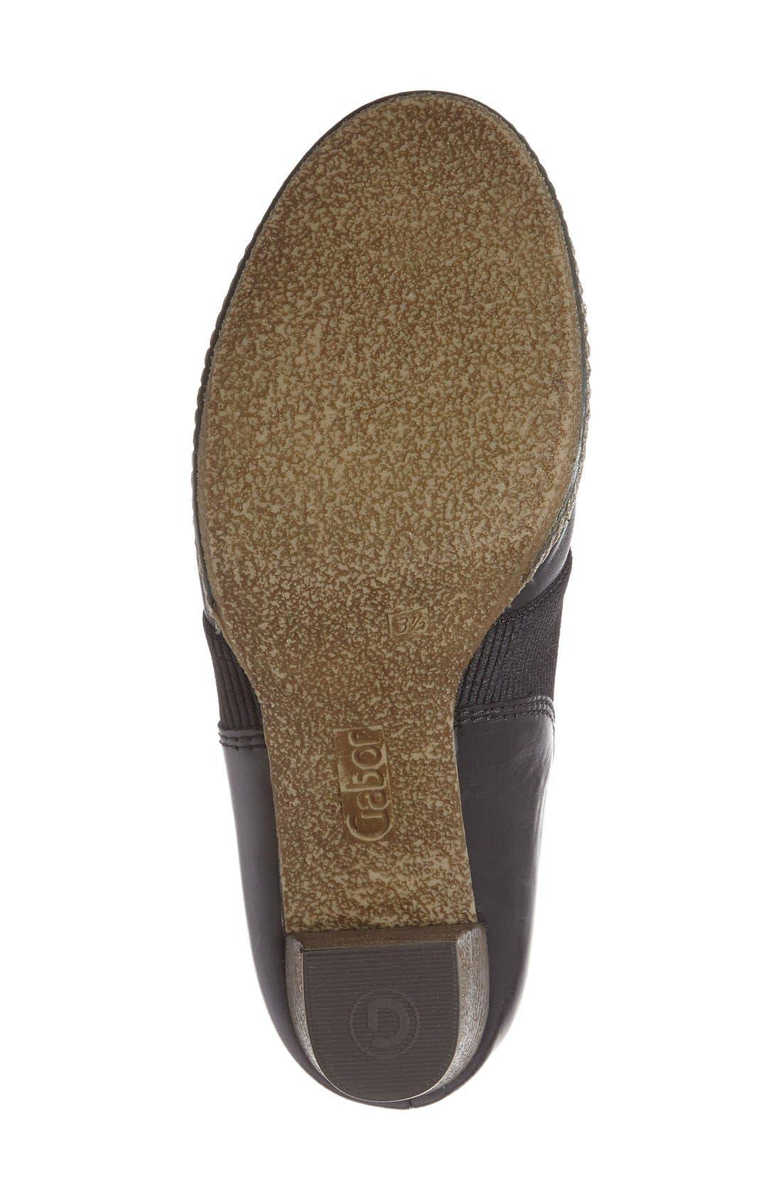 Block Heel Bootie,                             Alternate thumbnail 4, color,                             Black Leather
